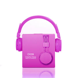 Frostycow EXO9i Premium Audio MP3 DJ Headphones Headset Mic Computer Laptop iPhone Samsung Purple Mobile phones