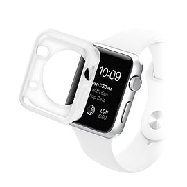 Frostycow Clear Hard Silicone TPU Bumper Cover Case For Apple Watch iWatch 38mm Mobile phones