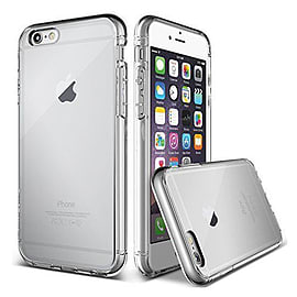 Frostycow Clear Silicone TPU Bumper Cover Case For Apple iPhone 6 Mobile phones