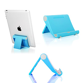 Multi-Angle Portable Desk Stand Holder Mount For Apple iPad; Samsung Nexus Blue Tablet