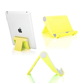Multi-Angle Portable Desk Stand Holder Mount For Apple iPad; Samsung Nexus Yellow Tablet