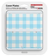 New 3DS Cover Plate - Blue Check Accessories