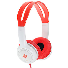 Moki Volume Limited Headphones for Kids - Red Audio