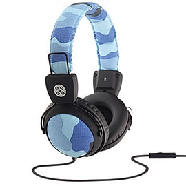 Moki Camo Headphones w/In-Line Mic- Blue Audio