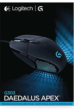 Logitech G303 Daedalus Apex RGB Gaming Mouse Accessories