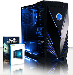VIBOX Tower 34 - 3.7GHz AMD Dual Core, Desktop PC (Radeon HD 8370D, 4GB RAM, 2TB, Windows 8.1) PC