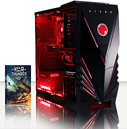 VIBOX Theta 55 - 4.0GHz AMD Quad Core, Gaming PC (Nvidia Geforce GT 730, 4GB RAM, 500GB, No Windows) PC