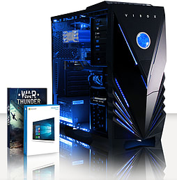 VIBOX Eagle 41 - 4.0GHz AMD Quad Core, Gaming PC (Radeon R7 250, 8GB RAM, 3TB, Windows 8.1) PC