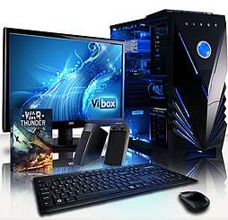 VIBOX Falcon 23 - 4.0GHz AMD Quad Core Gaming PC Package (Radeon R7 250X, 8GB RAM, 3TB, Windows 7) PC