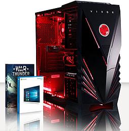 VIBOX Cygnus 11 - 4.0GHz AMD Quad Core Gaming PC (Nvidia Geforce GTX 750, 8GB RAM, 3TB, Windows 8.1) PC
