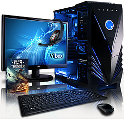 VIBOX Precision 6L - 4.0GHz AMD Quad Core Gaming PC Pack (Nvidia GT 730, 32GB RAM, 1TB, No Windows) PC