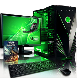 VIBOX Precision 6XL - 4.0GHz AMD Quad Core Gaming PC Pack (Nvidia GT 730, 32GB RAM, 2TB, No Windows) PC