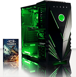 VIBOX Focus 55 - 4.2GHz AMD Quad Core, Gaming PC (Nvidia Geforce GT 730, 4GB RAM, 500GB, No Windows) PC