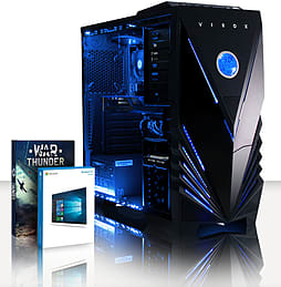 VIBOX Ultra 12 - 4.2GHz AMD Quad Core, Gaming PC (Radeon R7 240, 4GB RAM, 1TB, Windows 8.1) PC