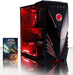 VIBOX Warrior 2 - 4.2GHz AMD Quad Core, Gaming PC (Radeon R9 270X, 16GB RAM, 1TB, No Windows) PC