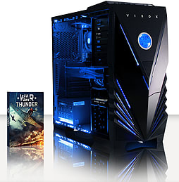 VIBOX Warrior 4S - 4.1GHz AMD Six Core, Gaming PC (Radeon R9 270, 16GB RAM, 1TB, No Windows) PC
