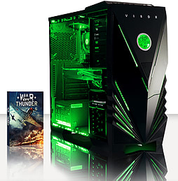 VIBOX Warrior 4S - 4.1GHz AMD Six Core, Gaming PC (Radeon R9 270, 16GB RAM, 1TB, No Windows) PC