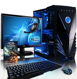 VIBOX Warrior 4XLW - 4.1GHz AMD Six Core Gaming PC Pack (Radeon R9 270, 32GB RAM, 2TB, Windows 8.1) PC