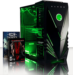 VIBOX Sniper 10XS - 4.0GHz Intel Quad Core Gaming PC (Nvidia GTX 970, 8GB RAM, 2TB, No Windows) PC