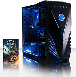 VIBOX Hammer 1 - 3.5GHz AMD Six Core, Gaming PC (Radeon R7 260X, 8GB RAM, 1TB, No Windows) PC