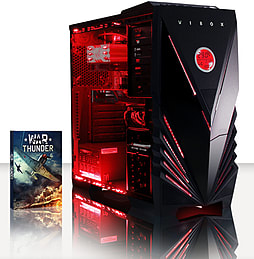 VIBOX War Lord 26 - 4.0GHz AMD Eight Core Gaming PC (Radeon R7 240, 16GB RAM, 1TB, Windows 7) PC
