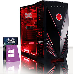 VIBOX War Lord 48 - 4.0GHz AMD Eight Core, Gaming PC (Radeon R7 240, 16GB RAM, 3TB, Windows 8.1) PC