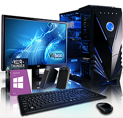 VIBOX Saturn 40 - 4.0GHz AMD Eight Core Gaming PC Pack (Radeon R7 250, 16GB RAM, 2TB, Windows 8.1) PC