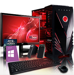 VIBOX Saturn 44 - 4.0GHz AMD Eight Core Gaming PC Pack (Radeon R7 250, 16GB RAM, 1TB, Windows 8.1) PC