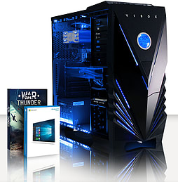 VIBOX Cosmos 42 - 4.0GHz AMD Eight Core, Gaming PC (Radeon R7 260X, 16GB RAM, 3TB, Windows 8.1) PC
