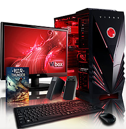 VIBOX Pulsar 29 - 4.0GHz AMD Eight Core Gaming PC Package (Radeon R9 270, 8GB RAM, 3TB, Windows 7) PC