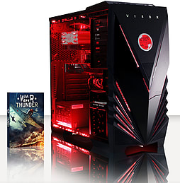 VIBOX Flame 9 - 3.5GHz Intel Quad Core, Gaming PC (Radeon R7 240, 8GB RAM, 2TB, No Windows) PC
