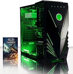 VIBOX Flame 17 - 3.5GHz Intel Quad Core, Gaming PC (Radeon R7 240, 8GB RAM, 3TB, No Windows) PC
