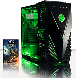 VIBOX Flame 31 - 3.5GHz Intel Quad Core Gaming PC (Radeon R7 240, 8GB RAM, 1TB, Windows 7) PC