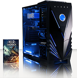 VIBOX Crusher 20 - 3.6GHz Intel Quad Core Gaming PC (Radeon R7 240, 16GB RAM, 1TB, Windows 7) PC