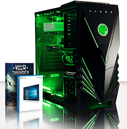 VIBOX Crusher 53 - 3.6GHz Intel Quad Core, Gaming PC (Radeon R7 240, 8GB RAM, 3TB, Windows 8.1) PC