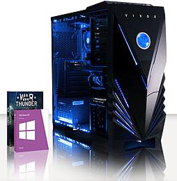 VIBOX Velox 8 - 4.0GHz INTEL Quad Core, Gaming PC (Radeon R7 260X, 8GB RAM, 2TB, Windows 8.1) PC