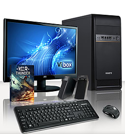 VIBOX Alpha 8 - 3.9GHz AMD Dual Core Desktop PC Pack (Radeon HD 8470D, 4GB RAM, 500GB, Windows 8.1) PC