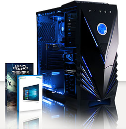 VIBOX SHARP SHOOTER 7SW - 4.0GHz AMD Quad Core Gaming PC (Nvidia GTX 750, 8GB RAM, 1TB, Windows 8.1) PC