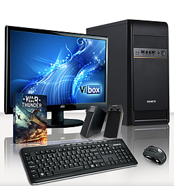 VIBOX Beta 9 - 4.2GHz AMD Quad Core, Gaming PC Package (AMD 760G, 4GB RAM, 500GB, Windows 8.1) PC