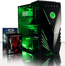 VIBOX Apache 9L - 4.1GHz AMD Six Core, Gaming PC (Nvidia Geforce GTX 960, 32GB RAM, 1TB, No Windows) PC