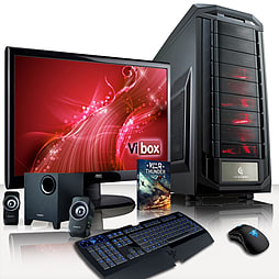VIBOX Sight 2 - 3.9GHz AMD Six Core, Gaming PC Package (Radeon R9 280X, 16GB RAM, 1TB, No Windows) PC