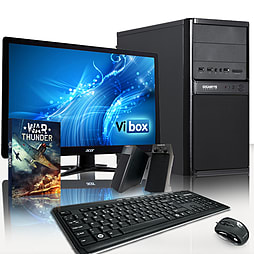 VIBOX Media 10 - 3.5GHz Intel Dual Core Gaming PC Pack (Nvidia GT 610, 4GB RAM, 1TB, Windows 8.1) PC