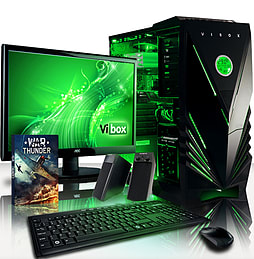 VIBOX Crusher 14 - 3.6GHz Intel Quad Core, Gaming PC Package PC