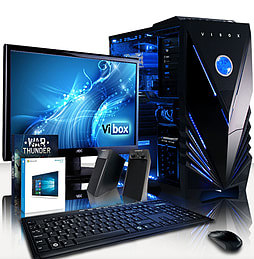 VIBOX Crusher 39 - 3.6GHz Intel Quad Core, Gaming PC Package PC