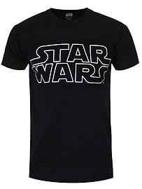 Star Wars Logo Black Men's T-shirt: Medium (Mens 38 - 40) Clothing