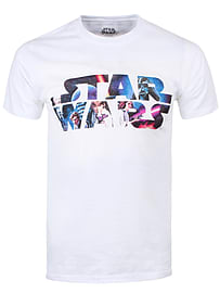 Star Wars Space Montage 3 White Men's T-shirt: XXL (Mens 44-46) Clothing