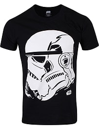 Star Wars Stormtrooper Profile Black Men's T-shirt: XXL (Mens 44-46) Clothing