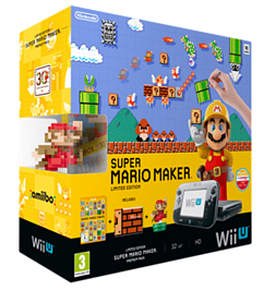 Black Wii U with Super Mario Maker Limited Edition Wii U