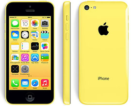 Apple iPhone 5C 8GB Factory Unlocked (Yellow) Phones