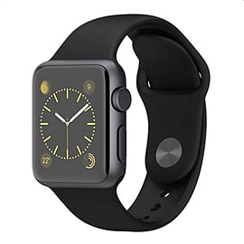Apple Watch Sport 42mm Silver Aluminum Case with Sport Band (Black) Phones